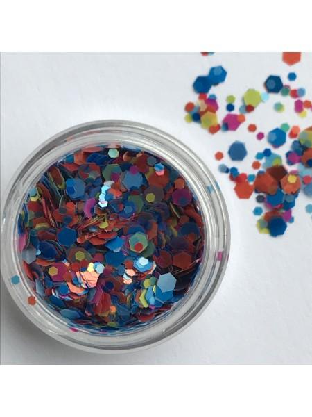Конфетти для дизайна ногтей mix06