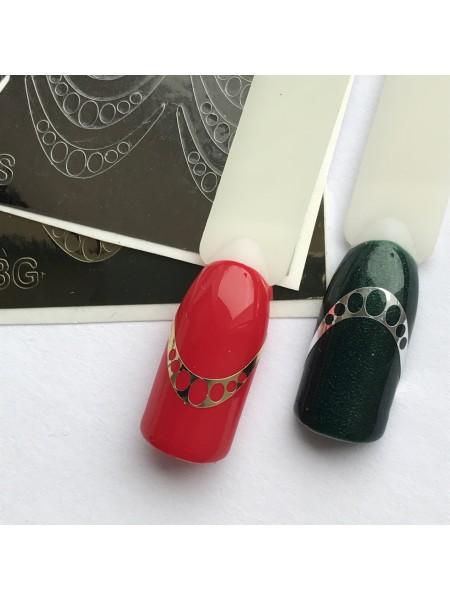 Металлизированная наклейка для ногтей №03 серебро