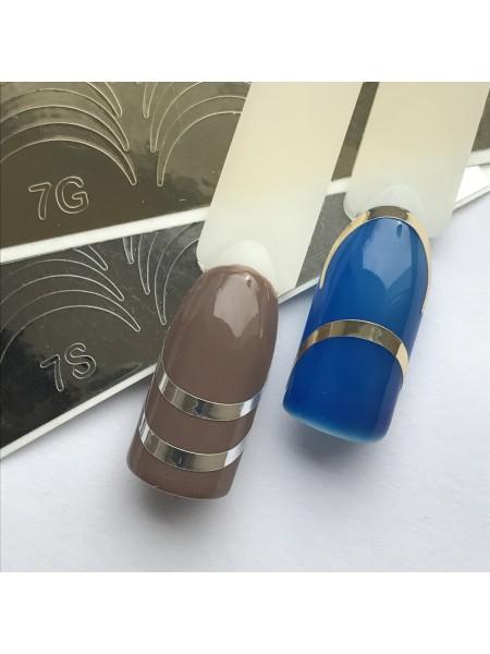 Металлизированная наклейка для ногтей №07 золото
