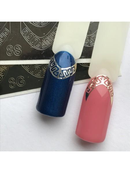 Металлизированная наклейка для ногтей №08 золото