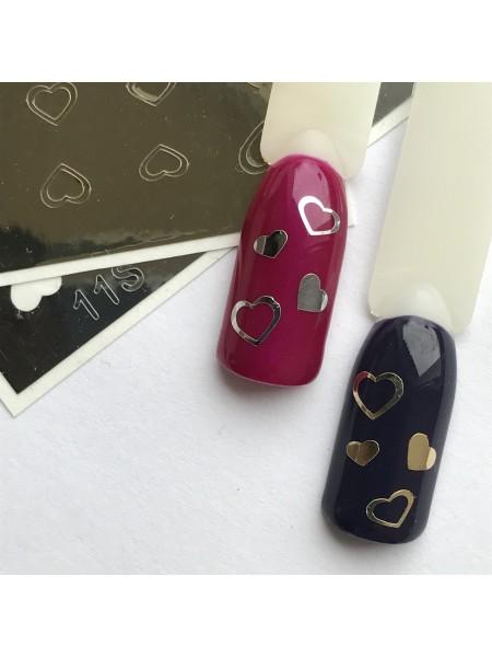 Металлизированная наклейка для ногтей №11золото