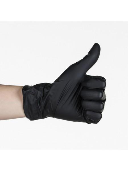 Перчатки нитриловые черные, размер M, 100 шт.