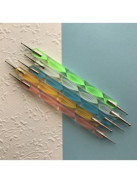 Набор из 5  дотсов для дизайна (пластиковая ручка)