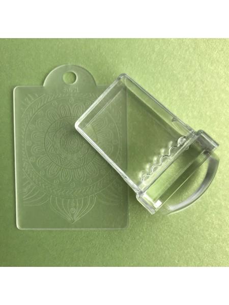 Штамп для стемпинга прямоугольный маленький