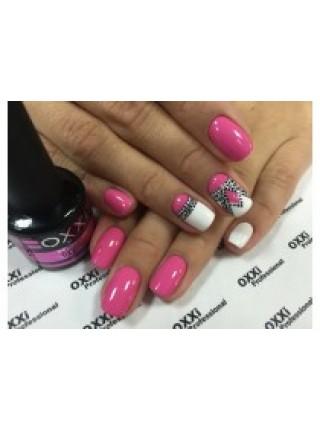 Гель лак Oxxi №016 розовый, эмаль, 8 мл.