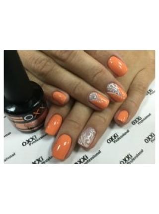 Гель лак Oxxi №003 бледно-оранжевый, эмаль 8 мл.