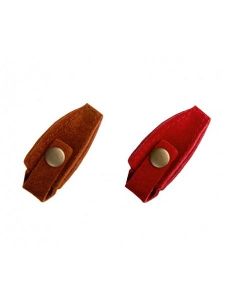 ЧМ Чехол для профессиональных кусачек на кнопке (кожа)