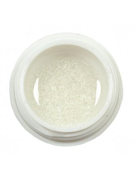 Меланжевый гель-лак Yo nails Zirka Snow 01, цвет белый, 5 мл