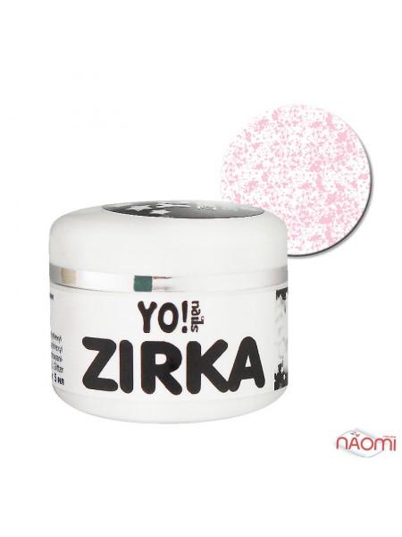 Меланжевый гель-лак Yo nails Zirka Snow 04, цвет розовый, 5 мл