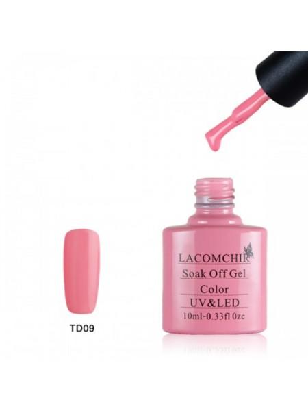 Гель лак Lacomchir TD009 розовый