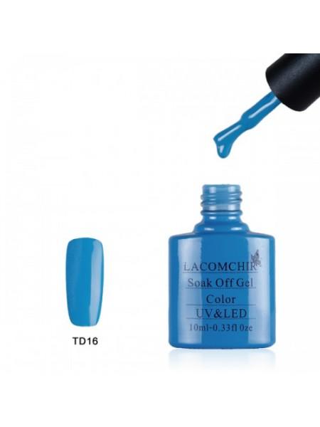 Гель лак Lacomchir TD016 голубой