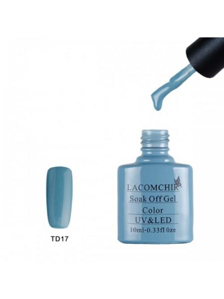 Гель лак Lacomchir TD017 серо-голубой