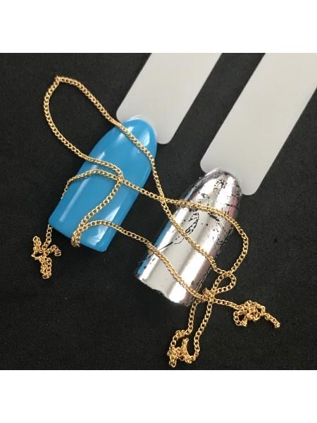 Декоративная цепочка для маникюра, золото