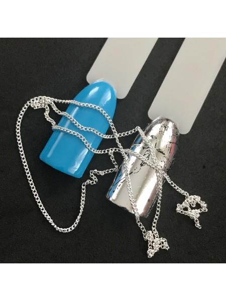 Декоративная цепочка для маникюра, серебро