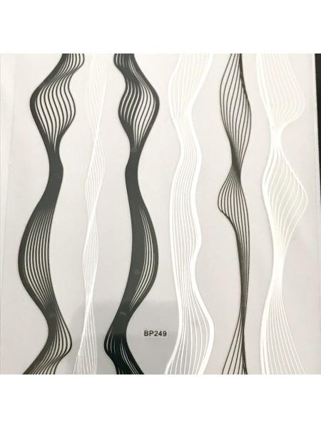 """Гибкая лента для дизайна """"нити"""", черно-белая"""