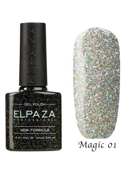 Гель лак Elpaza Magic Glitter №01, космическая пыль