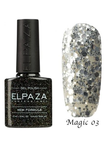 Гель лак Elpaza Magic Glitter №03, сияние звезд