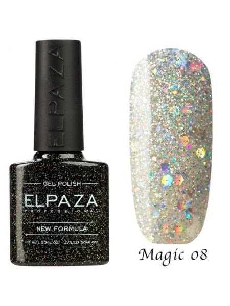 Гель лак Elpaza Magic Glitter №08, снегурочка