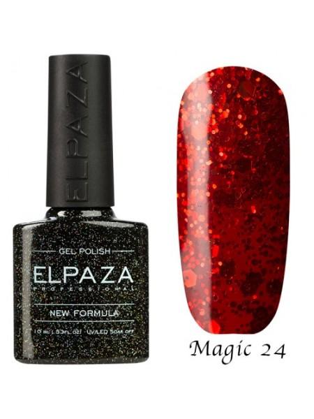 Гель лак Elpaza Magic Glitter №24, алый закат