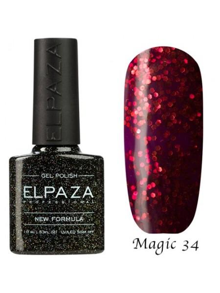 Гель лак Elpaza Magic Glitter №34, блеск карнавала