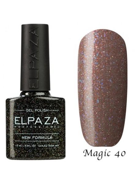 Гель лак Elpaza Magic Glitter №40, бокал шампанского