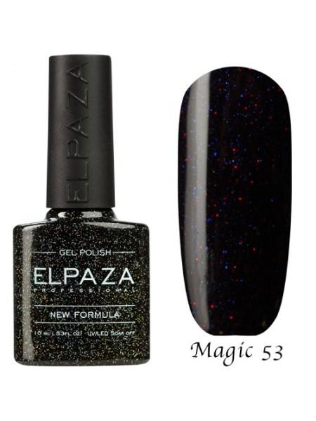 Гель лак Elpaza Magic Glitter №53, чёрный смузи