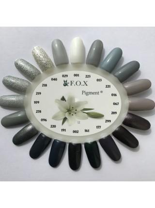 Гель лак F.O.X Pigment 6 мл № 001 белый