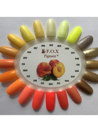Гель лак F.O.X Pigment 6 мл № 003 неоновый оранжевый