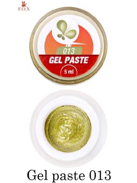 Гель-паста F.O.X № 013 золотая, 5 мл