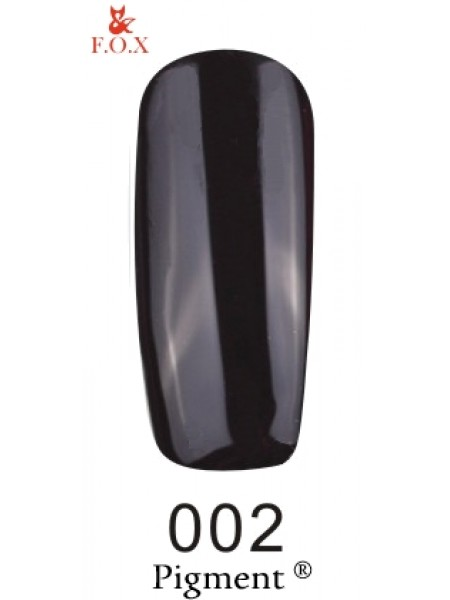 Гель лак F.O.X Pigment 6 мл № 002 черный