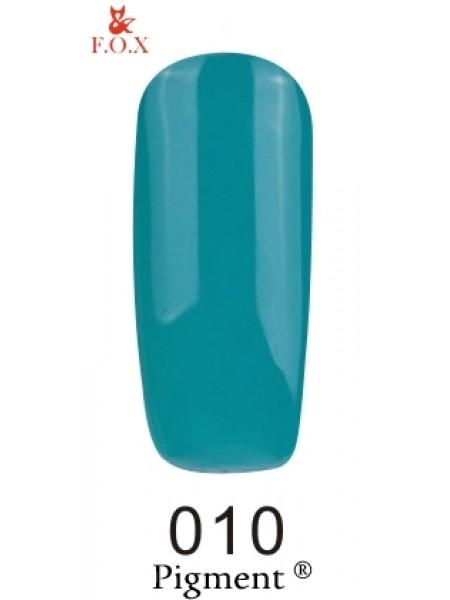 Гель лак F.O.X Pigment 6 мл № 010 темная бирюза