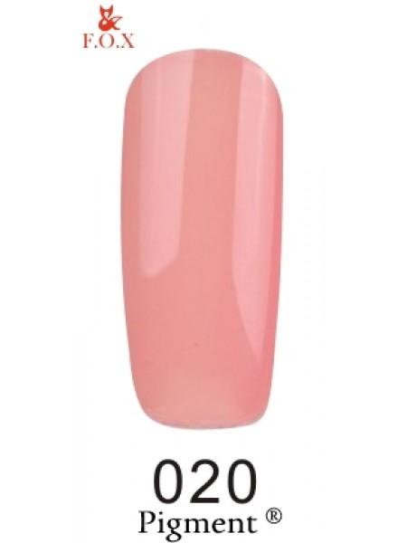 Гель лак F.O.X Pigment 6 мл № 020 бежево-розовый