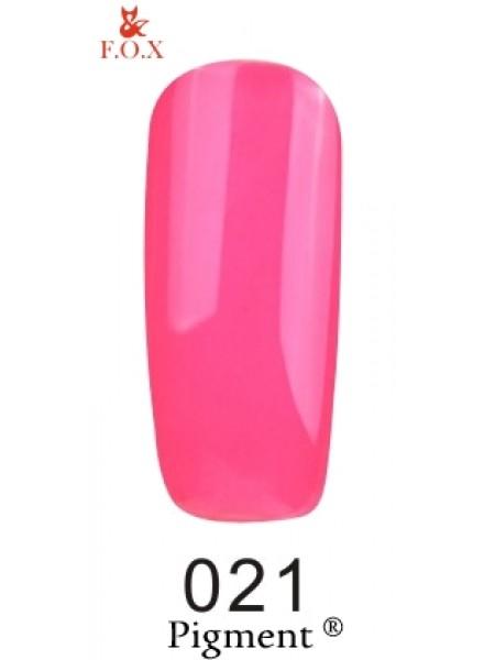 Гель лак F.O.X Pigment 6 мл № 021 розовый неоновый