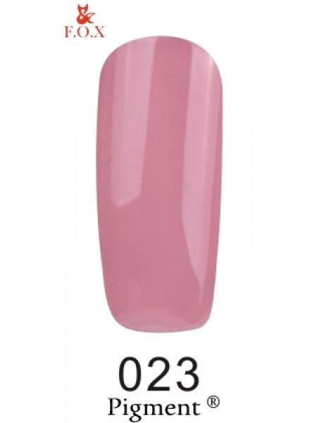 Гель лак F.O.X Pigment 6 мл № 023 серо-розовый