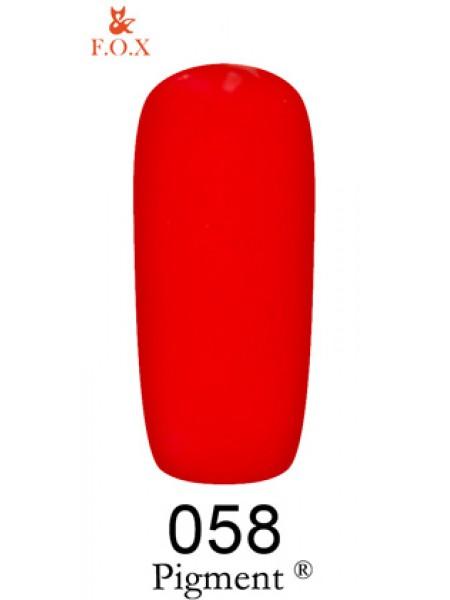 Гель лак F.O.X Pigment 12 мл № 058