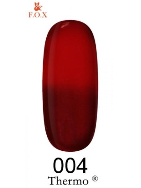 Гель лак F.O.X Thermo 6 мл № 004