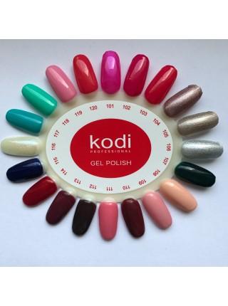 Гель лак Kodi № 101 (ярко розовый с перламутром) 8 мл.