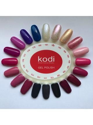 Гель лак Kodi № 162 (жемчужный с розовым перламутром и пурпурными блестками) 8 мл.