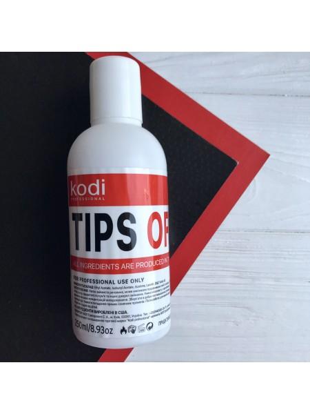 Kodi Tips Off Жидкость для снятия гель лака/акрила 250 мл.
