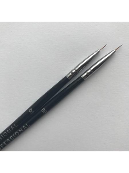 Кисть для росписи ногтей Kodi  №00 (нейлон, деревянная черная ручка)