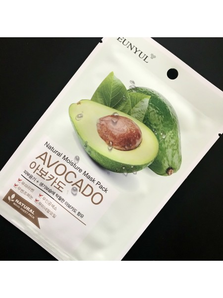 Маска для лица Eunyul Natural Moisture Mask Pack Avocado с экстрактом авокадо