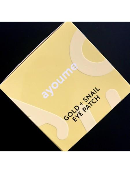 Гидрогелевые патчи с золотом и муцином улитки Ayoume Gold+Snail Eye Patch - 60 шт.