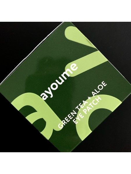 Гидрогелевые патчи для глаз с экстрактом зеленого чая и алое Ayoume Green Tea+Aloe Eye Patch - 60шт