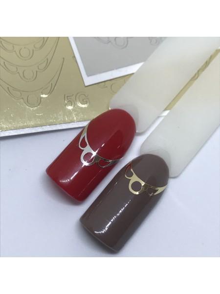 Металлизированная наклейка для ногтей №05 золото