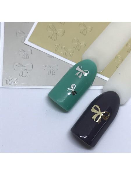 Металлизированная наклейка для ногтей №12 золото