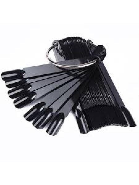 Палитра-веер на кольце 50шт. (цвет черный)