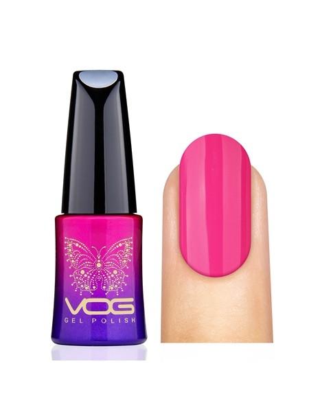 Гель лак VOG №021 ярко-розовый, 12 мл.