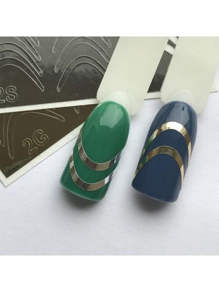 Металлизированная наклейка для ногтей №02 серебро