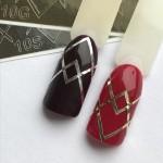Наклейки металлизированные для ногтей