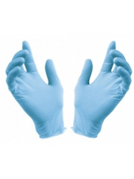 Перчатки нитриловые голубые, размер M, 100 шт. Медиком